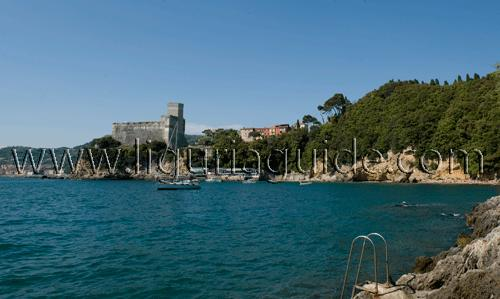 Ciccillo a Mare Beach Behind Lerici Castle, Liguria Pictures