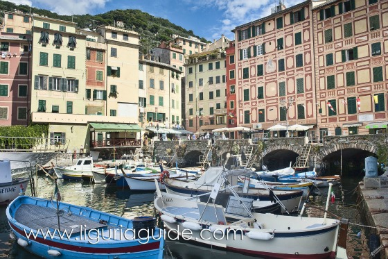 Camogli, La Sagra del Pesce , Piazza Colombo and its marina