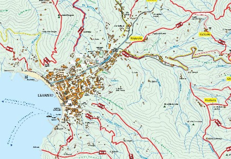 Map of Levanto Hiking Trails