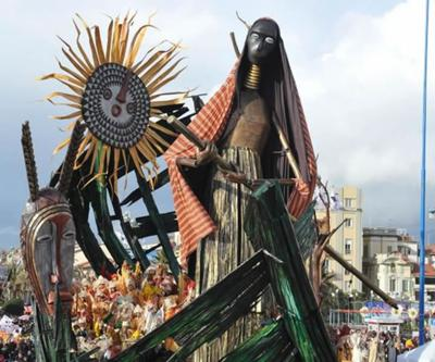 Carnival of Viareggio, gigantic paper-mache figure