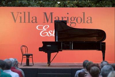 The stage at Villa Marigola