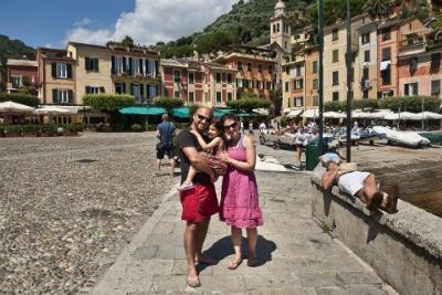 At Portofino's main Piazzetta