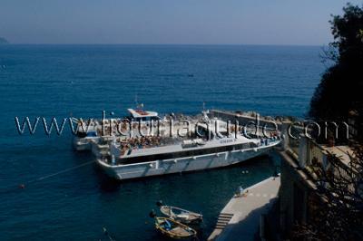 Ferry service in the Cinque Terre