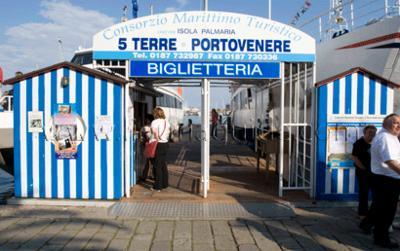 Ferry quay at La Spezia